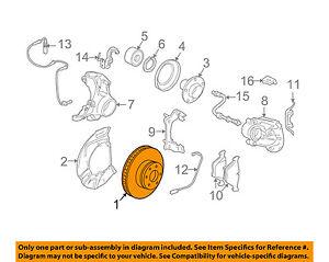 BMW OEM 04-07 530i Front Brake-Disc Rotor 34116864906