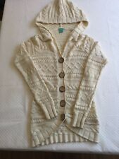 SIZE 8 WOMEN'S Cream KNITTED LONG SLEEVE WINTER RIP CURL CARDIGAN JACKET