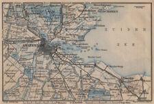 AMSTERDAM environs. Utrecht Leiden haarlem Zaandam. Netherlands kaart 1905 map