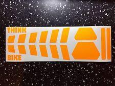 Fluorescent UV orange SAFETY strips Helmet Sticker daytime Hi Viz THINK BIKE TT