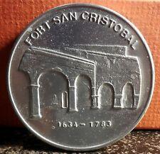 Beautiful 1634 1783 Ft. San Cristobal Puerto Rico National Historic Site Medal