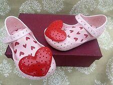 Girls Mini Melissa Infant Shoes- Size UK 4 EU 21 Red heart.Pink mary jane