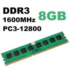 RAM 8GB DDR3 1600 MHz PC3-12800U Memoria Non-ECC Desktop PC DIMM 240 pin AMD