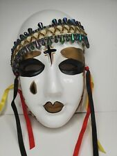 Vintage Mardi Gras Porcelain Face Mask Wall Hanging 1989 ucgc Taiwan