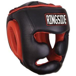Ringside Full Face HGBC MMA Kick Boxing Sparring Headgear Head Gear - Black