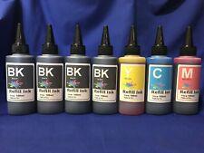 700ml Bulk Refill Ink for HP Epson Canon Brother printer extra 3Black +4 syringe