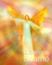 ARCHANGEL CHAMUEL Spiritual Angel Painting -Guardian Angel Art by Glenyss Bourne