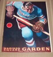 New York Rangers  Game program  Madison Square Garden October 28 1959