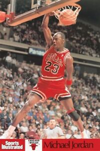 NBA CHICAGO BULLS MICHAEL JORDAN SPORTS ILLUSTRATED POSTER  NEW 24X36 FREE SHIP