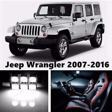 10pcs LED Xenon White Light Interior Package Kit for Jeep Wrangler