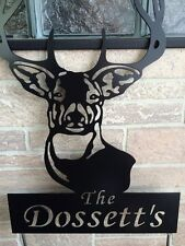 Metal Custom Name Buck Yard Stake