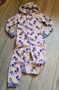 Girls All In One Panda Jumpsuit Size 4-5 Years