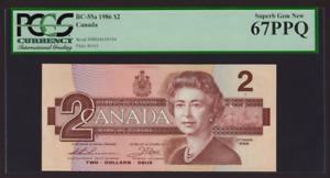 Canada 🇨🇦 1986 - $2 Thiessen-Crow Sig. - Superb Gem UNC 67 PPQ/EPQ