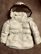 BABY GAP Toddler Jacket DOWN Puffer Coat Faux Fur Detachable Hood White 5 Yr