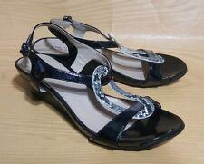 Kenneth Cole Reaction Slingback Wedge Black Snake Print Shoes 7.5 M