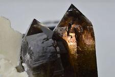 quartz smoky morion phantom Strzegom Striegau POLAND twins rauchquarz specimen