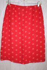 Jones New York 100% Silk Skirt Mint condition  Candy Red Polka Dot cute!  size 4
