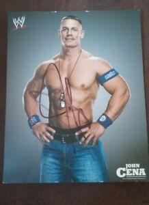 WWE 2009 John Cena 8X10 Signed Picture Photo Autograph WWF Wrestling