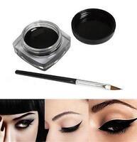 2017 Black Waterproof Eye Liner Shadow Gel Makeup+Brush Beauty Cosmetic Eyeliner
