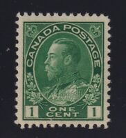 Canada Sc #104 (1911) 1c dark green Admiral Mint VF NH
