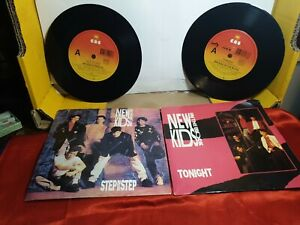 single vinyl records x2 new kids on the block scratches