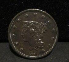 1841 Braided Hair Large Cent - AU       ENN COINS