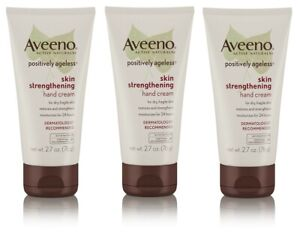 (3) Aveeno Positively Ageless Skin Strengthening Hand Cream For Dry Skin, 2.7 Oz