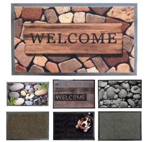 DOOR MAT Decorative Entrance Rug Carpet Entry Non Slip Indoor Mat Rubber Back