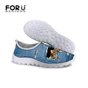 Blue Women's Smart Casual fashion Flat Shoes Breathable Sneakers Running Go Walk