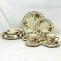 16 PIECE SET MIKASA HERITAGE CAPISTRANO DINNERWARE FOUR 4 PC PLACE SETTINGS