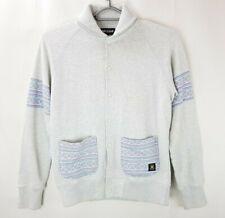 """Mens Lyle & Scott 100% Cotton Grey Button Up Cardigan Jumper Size M 44"""" Chest 32"""