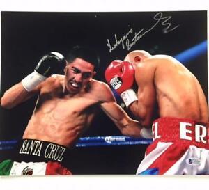 WBC IBF Champion LEO SANTA CRUZ Autograph Signed 11x14 Photo w/ BAS Beckett COA