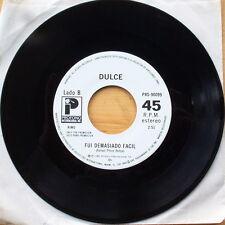 Scarce Dulce - Fui Demasiado Facil - White Label Promo - 1985 Profono