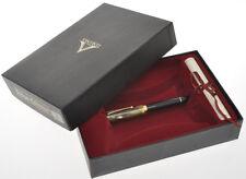 Visconti D'Essai 1988/89 L.E. Turtle & Black celluloid fountain pen mint in box