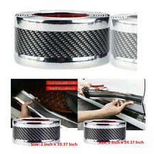 For Toyota Car Sticker Carbon Fiber Look Styling Door Sill Protector Accessories