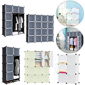 DIY Kleiderschrank Steckregal Regalsystem Kleiderschrank Garderobe mit Türen