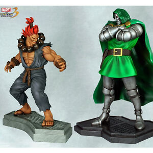MARVEL VS CAPCOM DR DOOM VS AKUMA 1/4 Scale Statue Set MINT #63 of 750