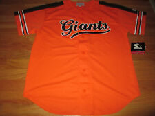 Starter SAN FRANCISCO GIANTS Button-Down Baseball (MED) Jersey w/ Tags ORANGE