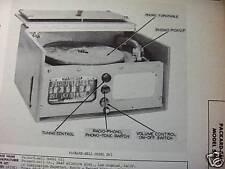 PACKARD BELL 561 PHONOGRAPH - RADIO COMBO PHOTOFACT
