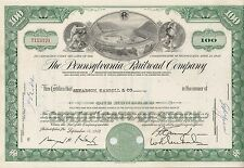 Pennsylvania Railroad Company share Eisenbahn Aktie 1960 - 1964 USA Philadelphia