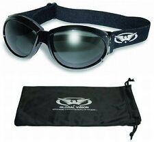 Eliminator Foam Padded Motorcycle Riding ATV Goggles-SMOKED LENSES-Sun Glasses