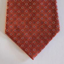 NEW Pierre Cardin Silk Neck Tie Brick Orange with Purple & Beige Pattern 1562
