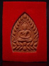 ANTIQUE CLAY THAI AMULET BUDDHA TALISMAN - WAT PAEN THONG SOPHARAM. Cira:1900's