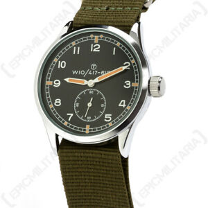 The Dirty Dozen British Military WW2 Style Service Watch with Luminous Hands
