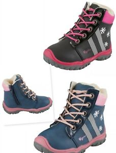 NEW BABY GIRLS INSULATED WARM SNOW WINTER BOOTS ZIP FURRY LACES FIRST WALK SHOES
