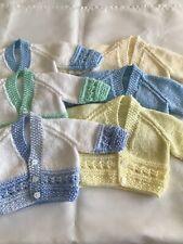 Hand knitted cardigans (newborn)