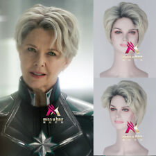 Captain Marvel Supreme Intelligence Mar Vell Short dyeing Halloween Cosplay Wigs