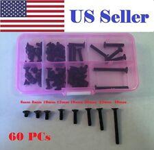 60Pcs M4 6-40mm Alloy Steel Flat Head Countersunk Screw Bolt assortment kit