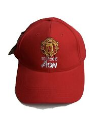 Manchester United Tour 2015 AON Red Baseball Cap Hat Mens Cotton Adjustable