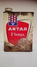 Bidon d'huile ANTAR 2 temps/2 litres/collection/garage/old can